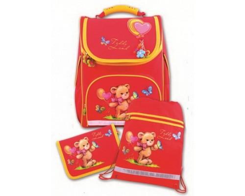 Рюкзак МИШКА С ШАРИКАМИ (пенал + мешок для обуви) для девочки