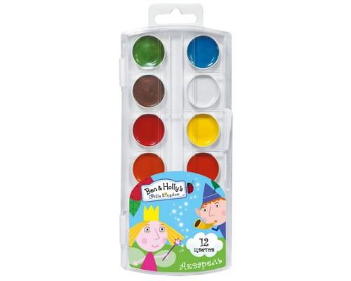 Краски акварельные 12 цветов BEN & HOLLY