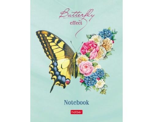 Бизнес-блокнот А6 160 листов интегральный Мир бабочек