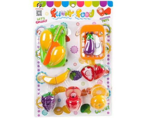 Набор овощи и фрукты резка на липучках 42x28x7 см F6200