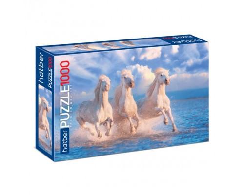 ПАЗЛ 1000 элементов Тройка лошадей-