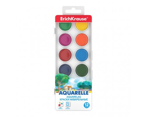 Краски акварельные 12 цветов ErichKrause