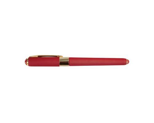 Ручка подарочная MONACO 0,5мм СИНЯЯ (красный корпус)