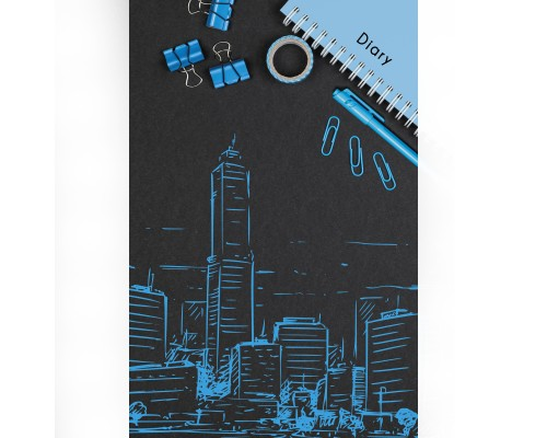 Ежедневник (недатированный) А5 112 листов Городские зарисовки