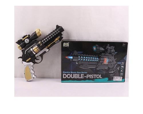 Оружие на бат. пистолет со светом и звуком 26х19х5 см, 880-1.