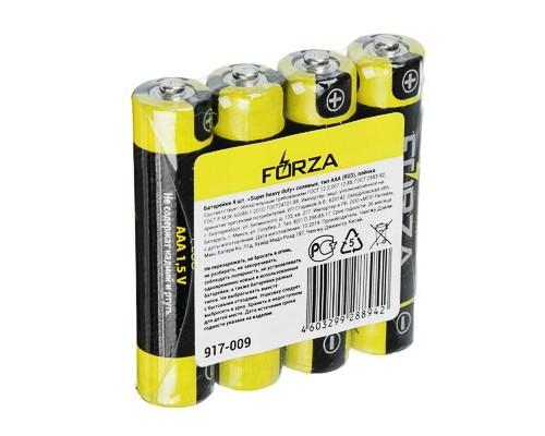 """Батарейка FORZA """"Super heavy duty"""" солевая, тип AAA (R03) S4"""