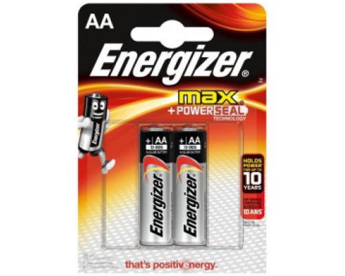 "Батарейка Energizer MАХ ""Alkaline"" щелочная, тип АA (LR6), BL2"
