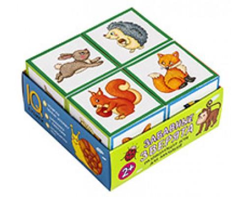 Кубики 4 шт.Забавные зверята