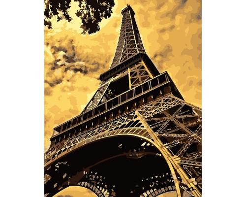 "Картина для раскрашивания по номерам ""ФРЕЯ"" ""Эйфелева башня"" (на холсте) 50 х 40 см"