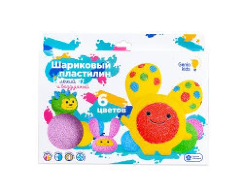 Набор для детской лепки Шариковый пластилин 6 цветов TA1802