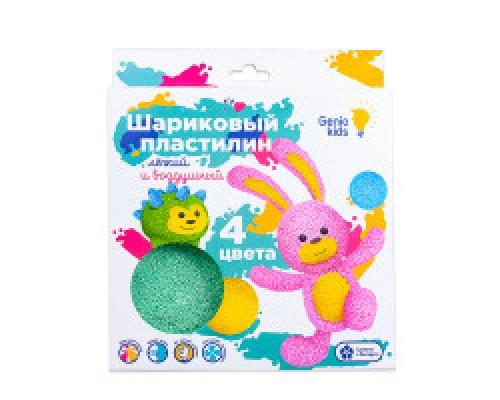 Набор для детской лепки Шариковый пластилин 4 цвета TA1801