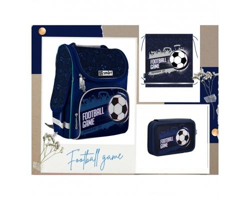 """Рюкзак """"Smart №1"""" Football game 3в1 в комплекте мешок для обуви, пенал д/мальчика нач.шк"""